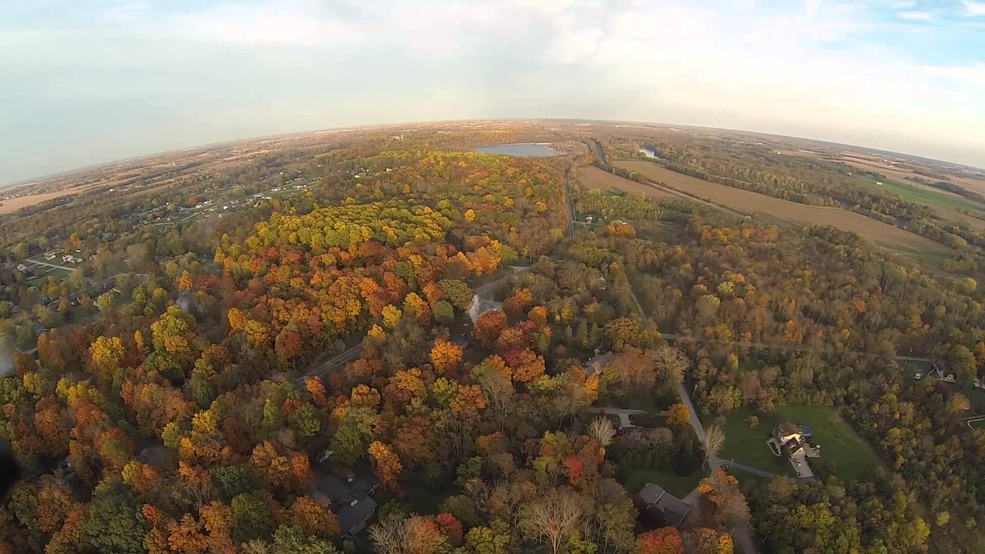 Logansport in the fall quadcopter